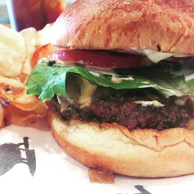 City Pork Deli & Charcuterie's Bayou Bengal Burger.