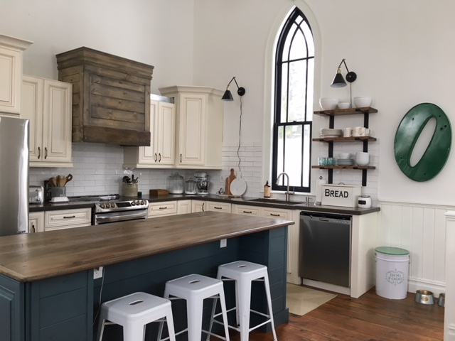 I Have Yet To Add The Shelves Left Of Window Complete Bulk Kitchen Makeover But They Brackets Are Ordered
