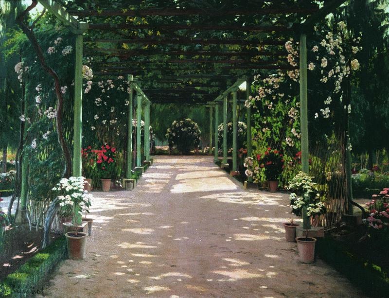 Jardines de España. Santiago Rusiñol. Exposición Museu del Modernisme Barcelona