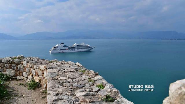 Το νεότευκτο κρουαζιερόπλοιο Seabourn Ovation είναι το τελευταίο για το 2018 που επισκέπτεται το Ναύπλιο (βίντεο)