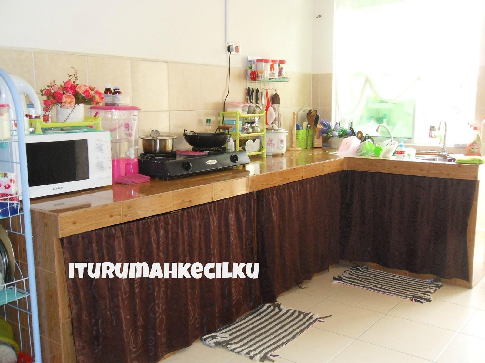 Inilah Dapur Saya Sangat Simple Budget Alhamdulillah Masuk Saja Rumah Ini Kami Buat Kabinet Dlu Tanpa Pintu Kak Fiza Ni Lah