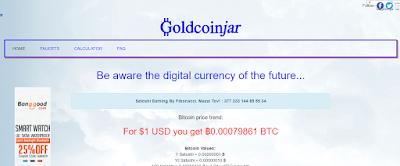 موقع goldcoinjar لجمع الستوشي لمحفظة  Xapo