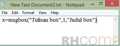 Cara Menampilkan Message Box Saat PC Menyala Dengan Notepad