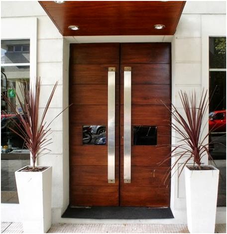 pintu minimalis dari kayu jati