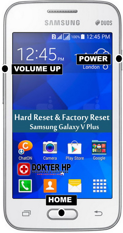 hard reset samsung galaxy v plus