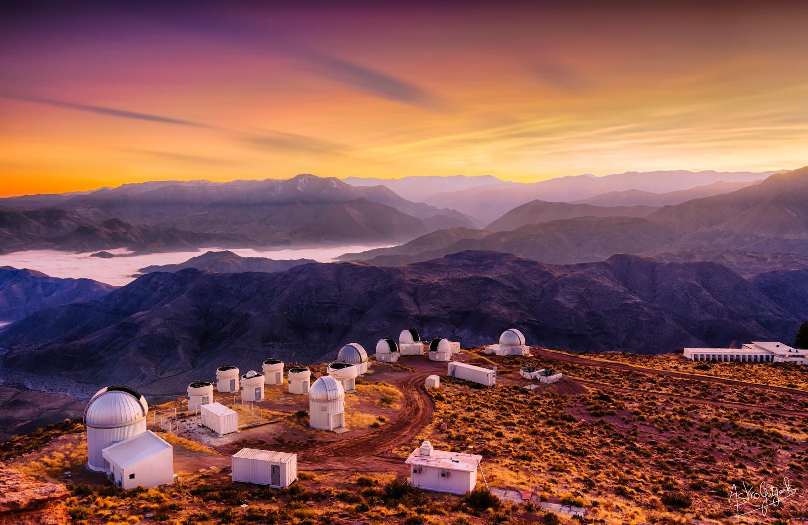 Sunrise over Cerro Tololo Observatory