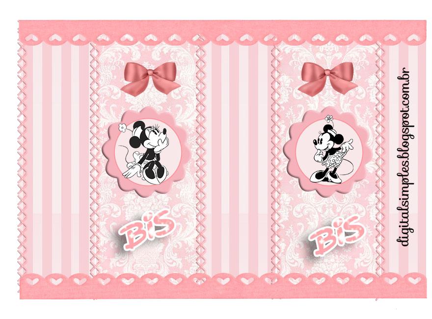 Etiquetas para Imprimir Gratis de Minnie Vintage.