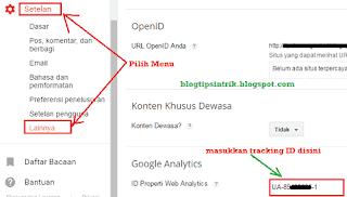 Cara Pasang Tracking ID Google Analytics