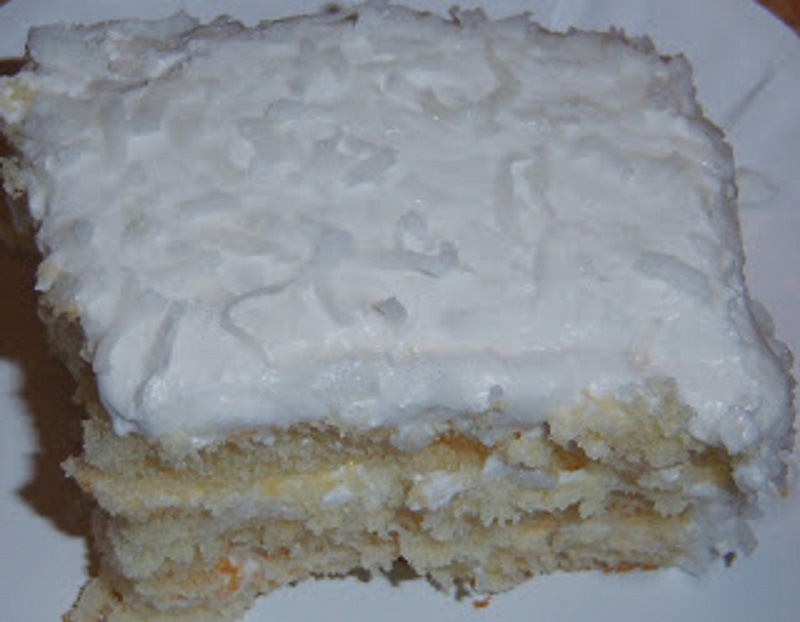 Old Fashioned Coconut Cream White Cake