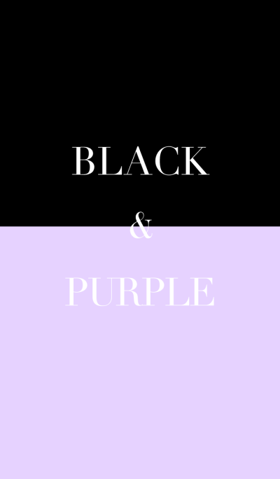 black & purple .