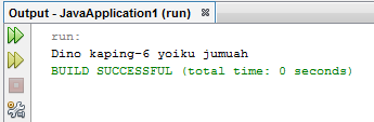 Program Java menentukan hari dengan menggunakan switch