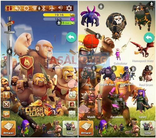 tema clash of clans untuk Android