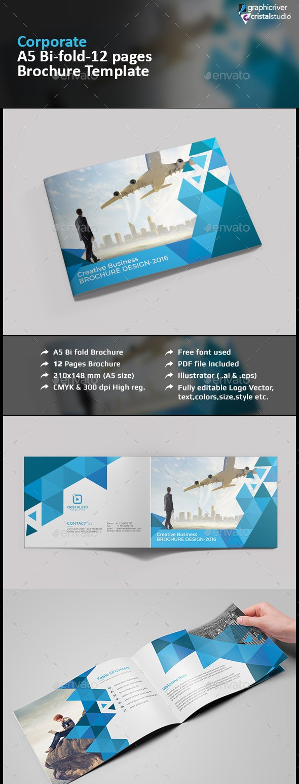 100 free premium brochure templates photoshop psd for Pamphlet photoshop template