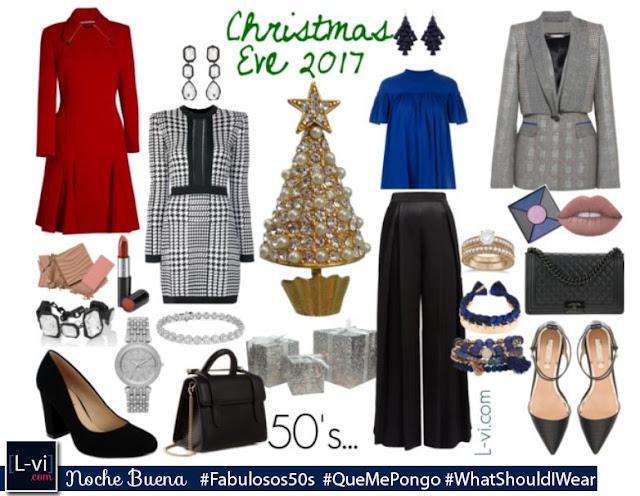 50's:Chirtmas Eve. #WhatShouldWear  L-vi.com