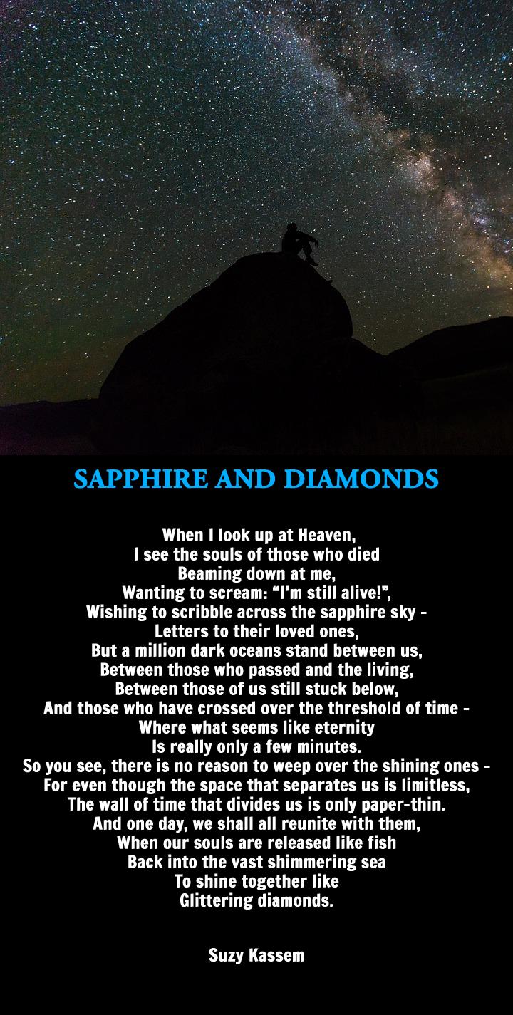 Suzy Kassem Sapphire and Diamonds
