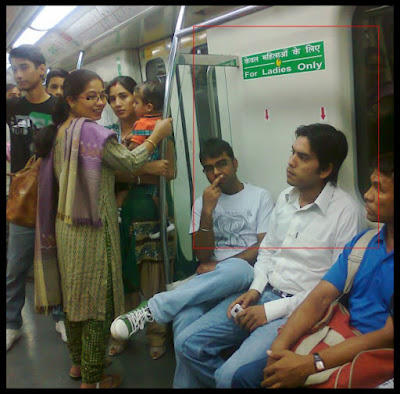We see this in every public transport.  I Love My India