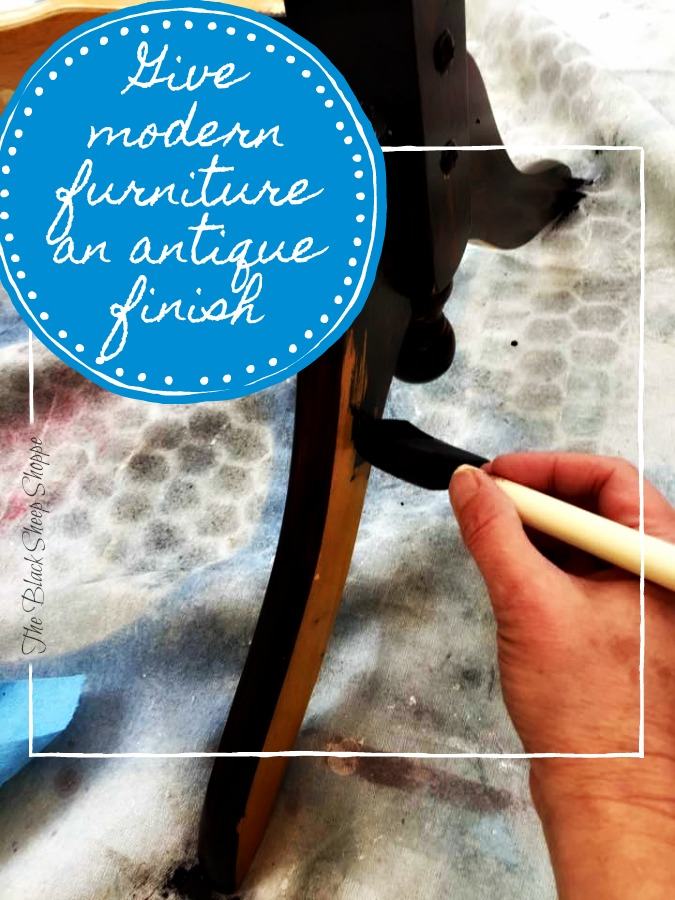 Learn how to give modern furniture an antique finish.