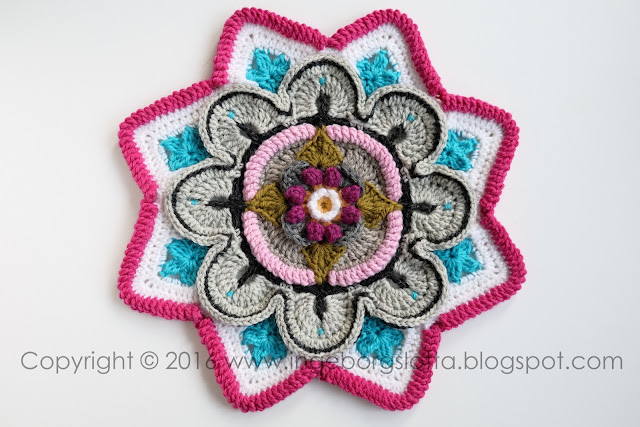 Mandala madness CAL 2016 part 2 crochet