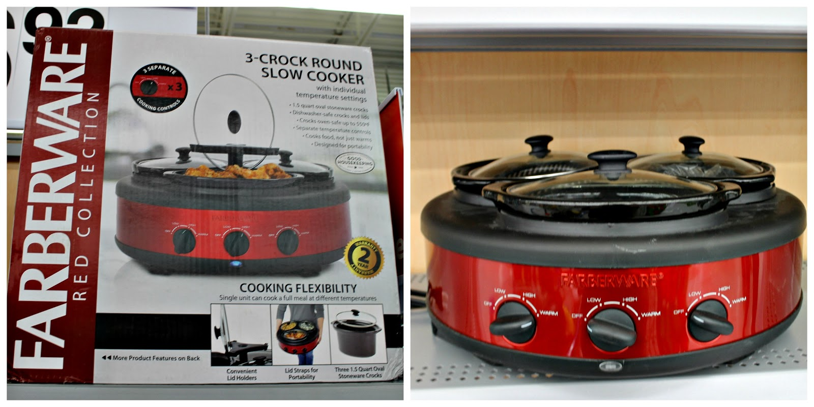 3 crock slow cooker