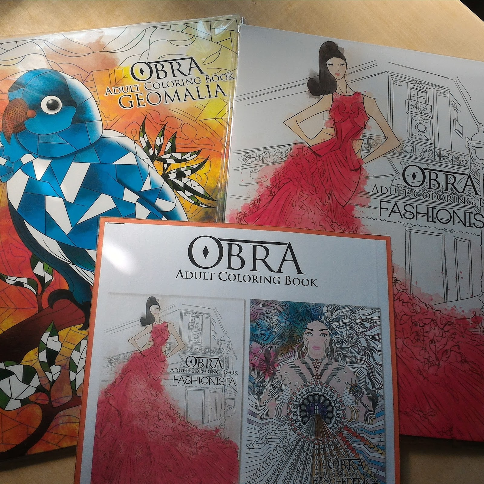 a look at the new obra coloring book for adults books | ravenfox's