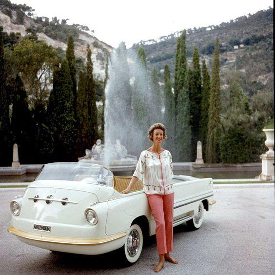 Marella Agnelli and a FIAT
