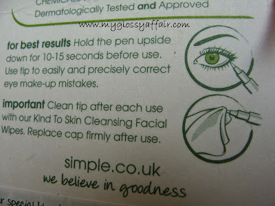 Simple Kind To Eyes Eye Make-up Corrector Pen Review