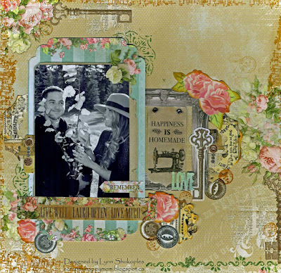 Happiness Is Homemade Layout by Lynn Shokoples for BoBunny featuring the Soiree Collection
