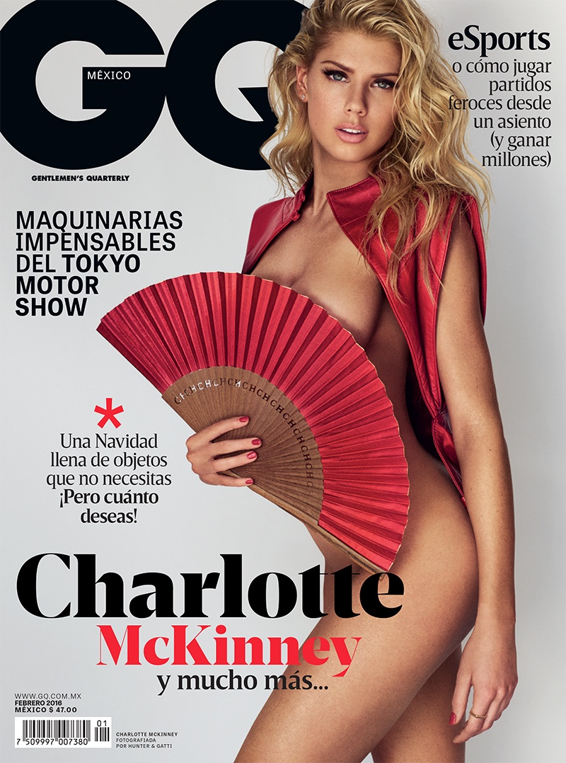 Charlotte McKinney is nearly nude for GQ Mexico