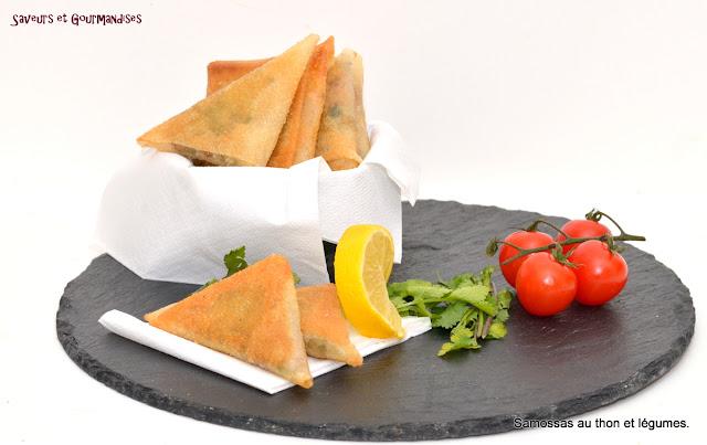 Samossas au Thon et aux Légumes.
