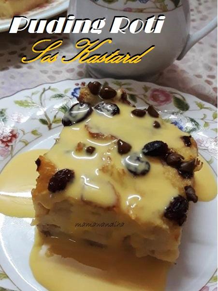 Dari Dapur Madihaa Puding Roti Sos Kastard