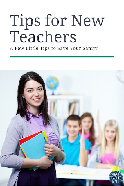 Tips For New Teachers - Save Your Sanity!  mrseteachesmath.blogspot.com