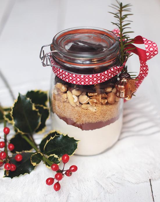 Geschenk aus der Küche Schoko Nuss Brownies