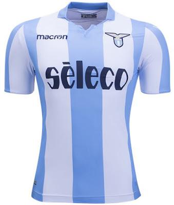 17-18 Lazio Away White&Blue Soccer Jersey Stadium