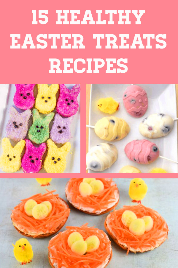 When it comes to Easter, it's not always easy to avoid all the sugary treats. Well, this list of 15 Healthy Easter Treats is sure to inspire you and your kids will love them! #easter #healthysnacks #healthytreats #eastertreats #healthykids #kidsnacks #easterdessert