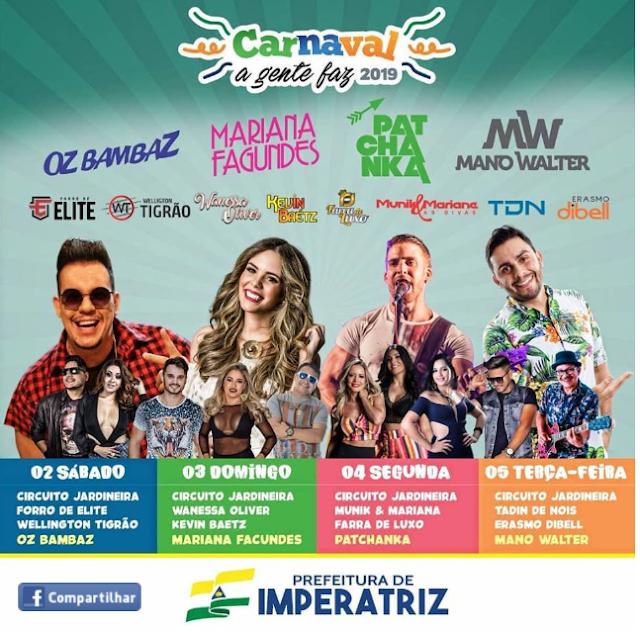 Prefeitura de Imperatriz deverá gastar mais de hum milhão de reais com a realização do carnaval???