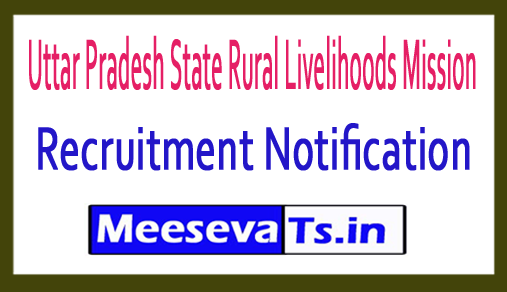 Uttar Pradesh State Rural Livelihoods Mission UPSRLM Recruitment