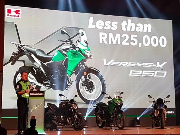 Harga seunit Versys-X 250 di anggarkan RM25,000