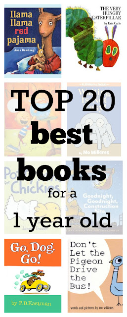 Top 20 best books for a 1 year old. Click to see the full list of these 20 must-reads, selected by a mom and her daughter from over 200 recommended toddler books.