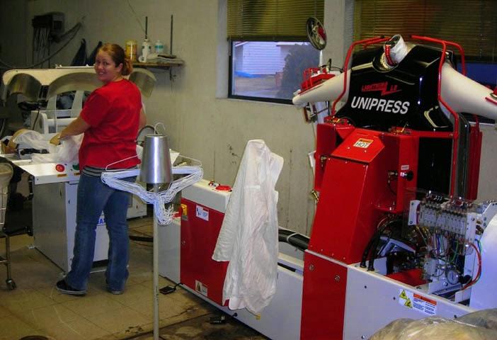 mesin press laundry