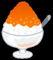 かき氷のイラスト(ピーチ)