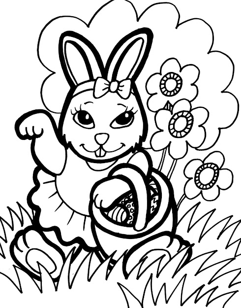 Baby Easter Bunny Coloring Pages