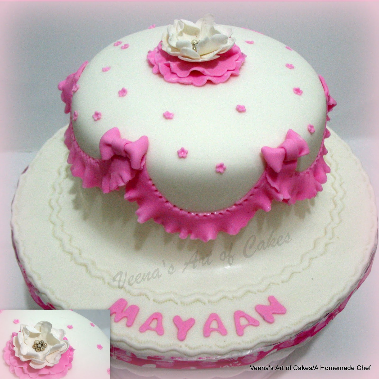 Gift box cake plus pink baby cake veena azmanov gift box cake plus pink baby cake negle Image collections