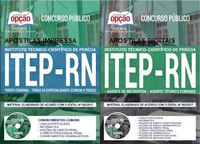 Apostila Concurso ITEP-RN - Instituto Técnico-Científico de Perícia