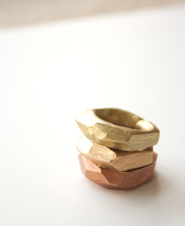 Diy Faceted Clay Rings Poppytalk