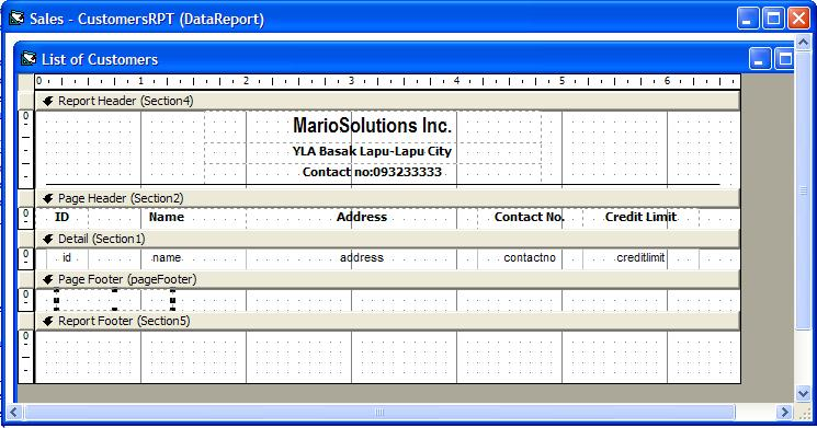 Visual Basic 60 and Database Systems Creating reports using Data - how to create a report