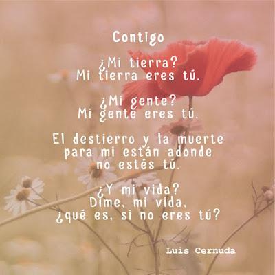 """Poema """"Contigo"""" de Luis Cernuda"""