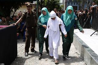 Couple flogging in Indonesia