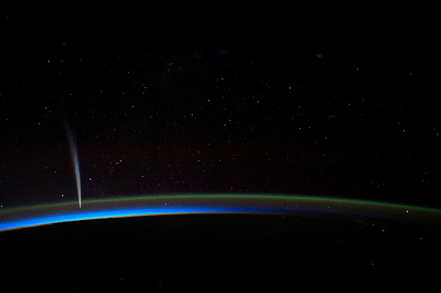 Comet Lovejoy seen from the International Space Station