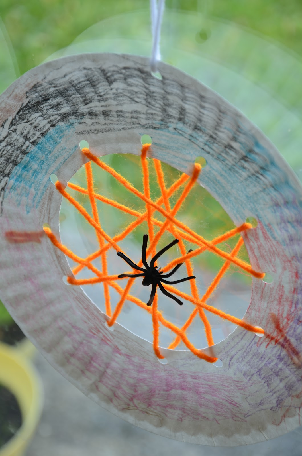 spider craft ideas no wooden spoons paper plate spiderwebs kid craft 2982