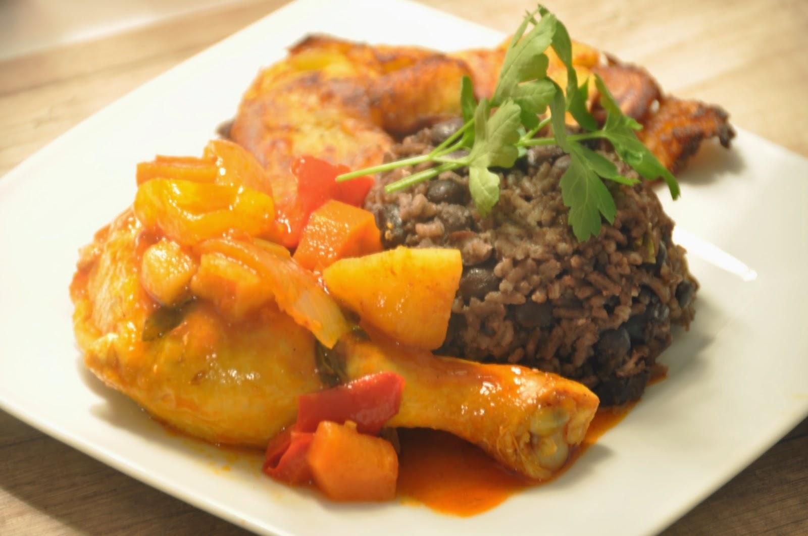 pollo fricase kubanisches h hnchen mit congri und tostones allegretta. Black Bedroom Furniture Sets. Home Design Ideas